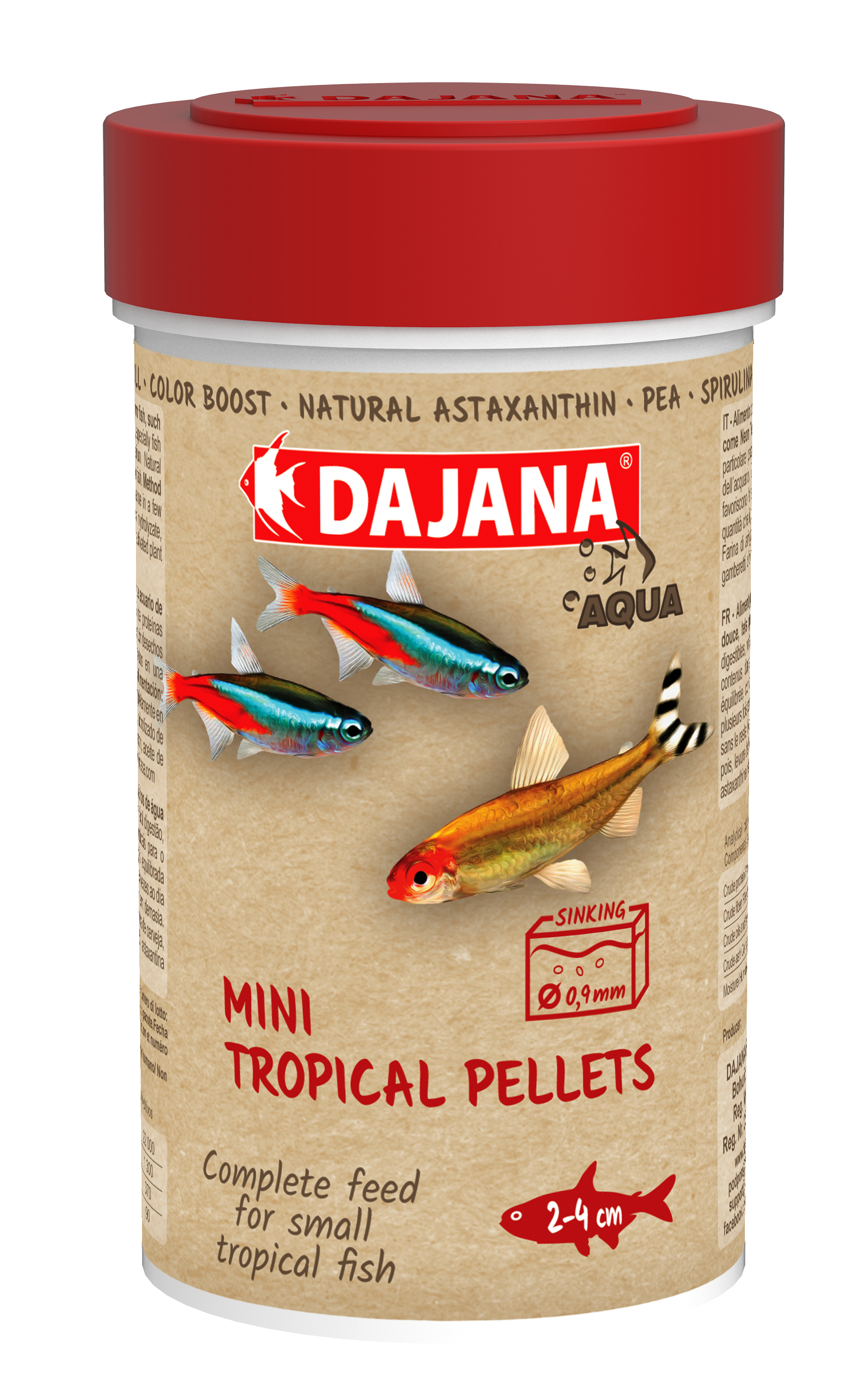 Dajana Mini tropical pellets 250 ml